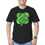 Giant Shamrock Happy Birthday Men's Fitted T-Shirt