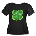 Giant Shamrock Happy Birthday Women's Plus Size Sc