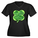 Giant Shamrock Happy Birthday Women's Plus Size V-