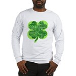 Giant Shamrock Happy Birthday Long Sleeve T-Shirt