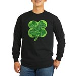 Giant Shamrock Happy Birthday Long Sleeve Dark T-S