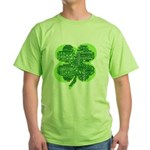Giant Shamrock Happy Birthday Green T-Shirt