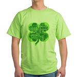 Giant Shamrock Happy Birthday Green T-Shirt