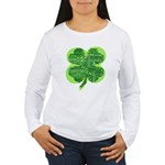 Giant Shamrock Happy Birthday Women's Long Sleeve