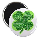 Giant Shamrock Happy Birthday Magnet