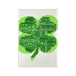 Giant Shamrock Happy Birthday Rectangle Magnet (10