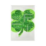 Giant Shamrock Happy Birthday Rectangle Magnet (10