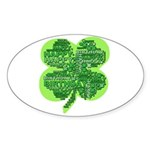 Giant Shamrock Happy Birthday Sticker (Oval)