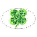 Giant Shamrock Happy Birthday Sticker (Oval 50 pk)