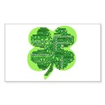 Giant Shamrock Happy Birthday Sticker (Rectangle 1