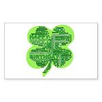 Giant Shamrock Happy Birthday Sticker (Rectangle 1