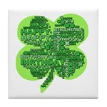 Giant Shamrock Happy Birthday Tile Coaster