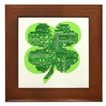 Giant Shamrock Happy Birthday Framed Tile
