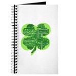 Giant Shamrock Happy Birthday Journal