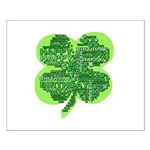 Giant Shamrock Happy Birthday Small Poster
