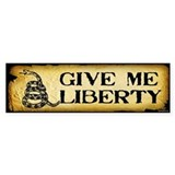 Give Me Liberty Bumper Sticker