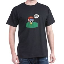 Golf Helmet  Black T-Shirt