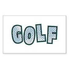 Fun Golf Rectangle Decal