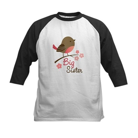 Big Sister - Mod Bird Kids Baseball Jersey