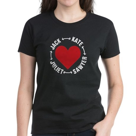 LOST Love Square Women's Dark T-Shirt