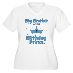 Big Brother of the 1st Birthd Women's Plus Size V-