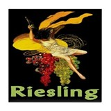 Riesling Wine Tile Coaster