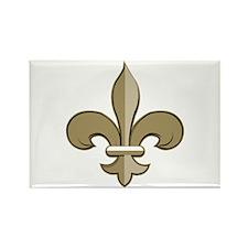 Fleur de lis black gold Rectangle Magnet (100 pack