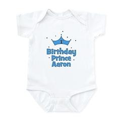 1st Birthday Prince AARON! Infant Bodysuit