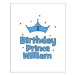 1st Birthday Prince WILLIAM! Small Poster