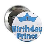 """1st Birthday Prince OWEN! 2.25"""" Button"""