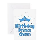 1st Birthday Prince OWEN! Greeting Cards (Pk of 10