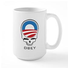 Obey Obama Skull Mug