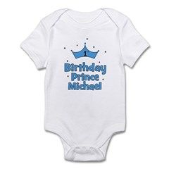 1st Birthday Prince MICHAEL! Infant Bodysuit