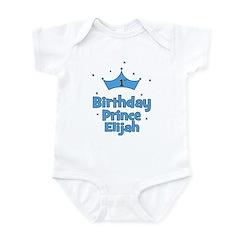 1st Birthday Prince ELIJAH! Infant Bodysuit