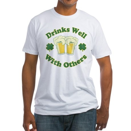 Drinks Well With Others Fitted T-Shirt