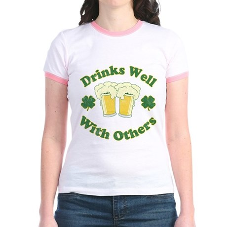Drinks Well With Others Jr Ringer T-Shirt