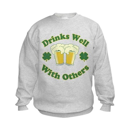 Drinks Well With Others Kids Sweatshirt