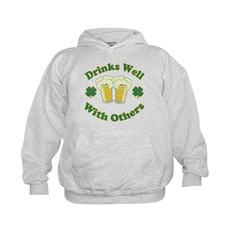 Drinks Well With Others Kids Hoodie