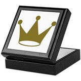 Golden crown Keepsake Box
