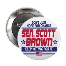"Scott Brown 2012 Hope 2.25"" Button"