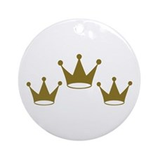 Golden crowns Ornament (Round)