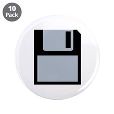 "Floppy disk 3.5"" Button (10 pack)"