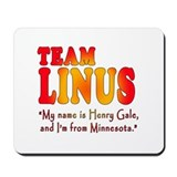 TEAM LINUS with Ben Linus Quote Mousepad