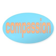 compassion Oval Decal