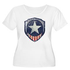 Captain Liberty Vintage Women's Plus Size Scoop Ne