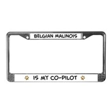 Co-pilot: Belgian Malinois License Plate Frame