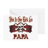 Kickass Papa Greeting Card