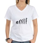 Evolution - Lost statue Women's V-Neck T-Shirt