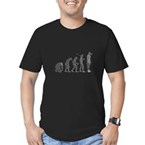 Evolution - Lost statue Men's Fitted T-Shirt (dark