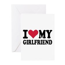 I love my girlfriend Greeting Cards (Pk of 20)